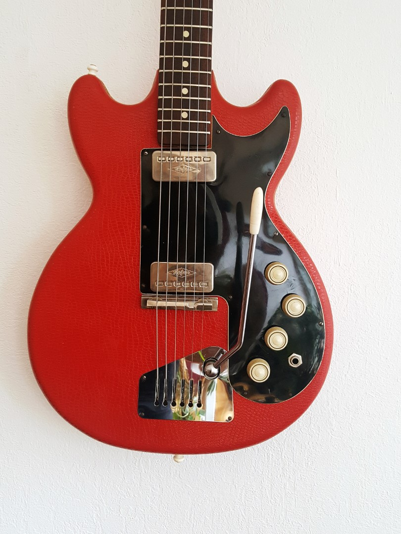 1964 65 H 246 Fner 163 Colorama Red Vinyl Philthy Guitars